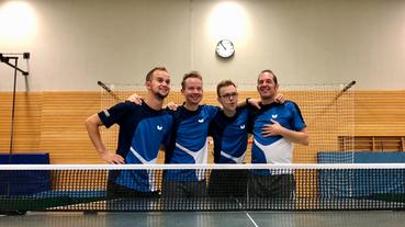 Tischtennismannschaft des Vereins GSBV Halle/S.