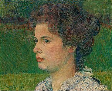 Anna Amiet-Luder, Öl/Holz, 1898