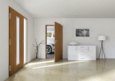 Hausbau:  Keller- und Nebentür im Eigenheim - Foto Hörmann