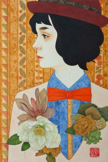 ひかりのブローチ 日本画 P6  144,900円