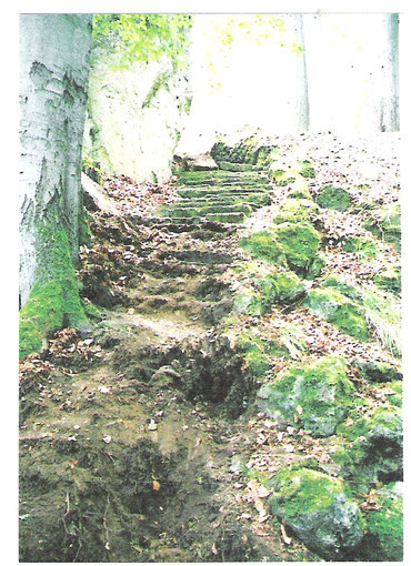 Treppenaufgang vor der Rekonstruktion