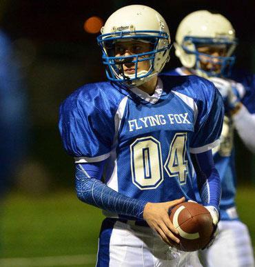 Portrait d'un joueur de Football américain de l'équipe des Flying Fox de Nouméa, Nouvelle Calédonie