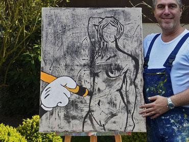 """(c) Divo Santino 2017 """"Painters Hand"""""""