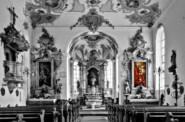 Inneres der Pfarrkirche St. Martin zu Altheim