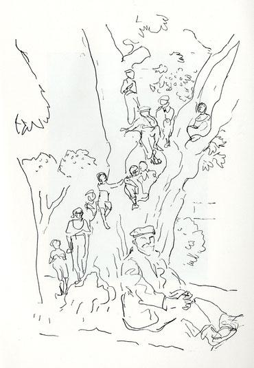 Kinder im Baum (Süditalien)