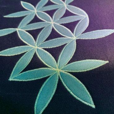 Blume des Lebens Applikation, Jersey auf Sweat-Stoff, aus Bio-Stoffen, fair produziert von naht.und.art, Schwalenberg
