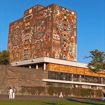 メキシコの世界遺産「メキシコ国立自治大学[UNAM]の中央大学都市キャンパス(メキシコ)」、中央図書館