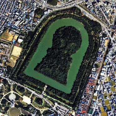日本の世界遺産「百舌鳥・古市古墳群」、大仙陵古墳(仁徳天皇陵)