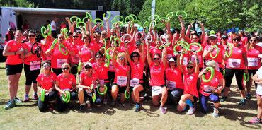 2015 - 1. Platz für die größte Gruppe mit 65 Teilnehmerinnen - unsere TEAMsmove2smile.de Gruppe beim Challenge Women 2015 in Roth