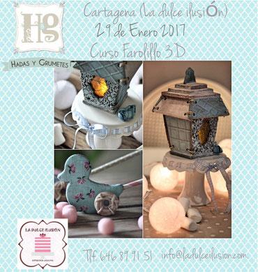 Joana Cazorla de Hadas y Grumetes, nos acompañará a finales de Febrero con el curso Farolillo 3D, sobre decoración de tartas en 3D y cacao.