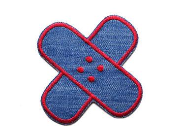 Bild: Flicken Hosenpflaster Jeans Hosenflicken zum aufbügeln rot