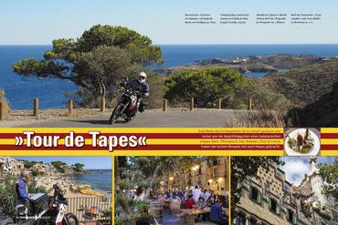 Kurvenreich: »Carretera de Cadaqués« oberhalb der Bucht von Portlligat. - Malerischer Strand von Calella de Palafrugell. - »Rambla de Figueres« - »Häuserblock der Zwietracht«: »Casa Amatller« und »Casa Batlló« in Barcelona.