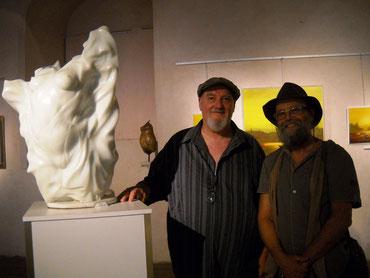 avec le sculpteur serge sallan 2013