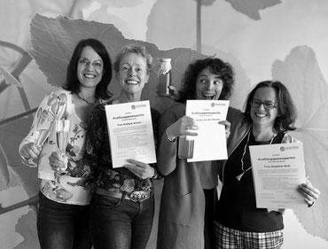 Ruth Rieckmann, Evelyne Amsler, Aimee van der Sterren & myself in Bonn, Februar 2019