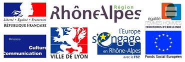 Partenaires institutionnels d'HF Rhône-Alpes