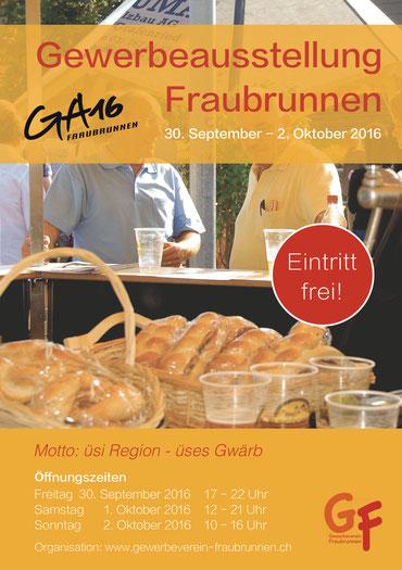 Druckatelier46 Mülchi - Foto Flyer Gewerbeausstellung 2016