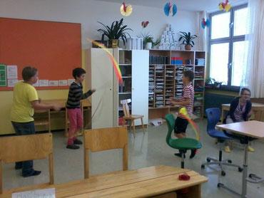 Workshop für Kinder zum Thema Lerntechniken an der NMS Mooskirchen mit Roswitha Hafen, organisiert über den Elternverein
