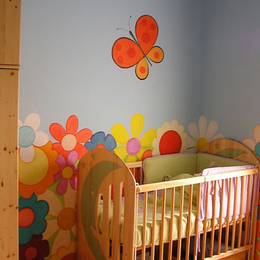 ¿Cómo pintar dormitorio infantil?. Ideas para pintar habitaciones infantiles. Pintura decorativa en Barcelona. Pintors