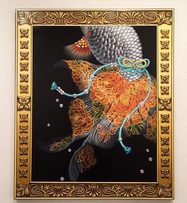 """「薫」""""Kaoru"""",91.0×72.7cm,Acrylic colors on canvas."""