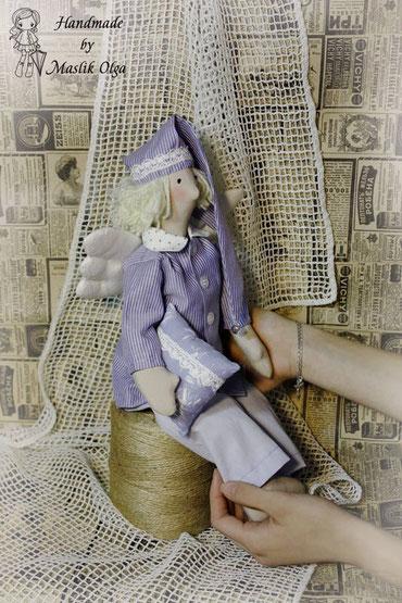 кукла-тильда-сплюшка-сонный-ангел-Маслик-Ольга