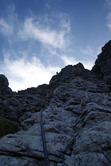 """""""Himmelssteiger"""" im oberen Teil des Klettersteigs"""