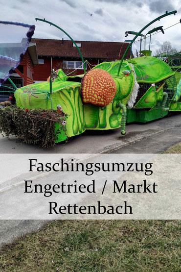Der schönste Faschingsumzug im Allgäu: Engetried, Markt Rettenbach, 2020.
