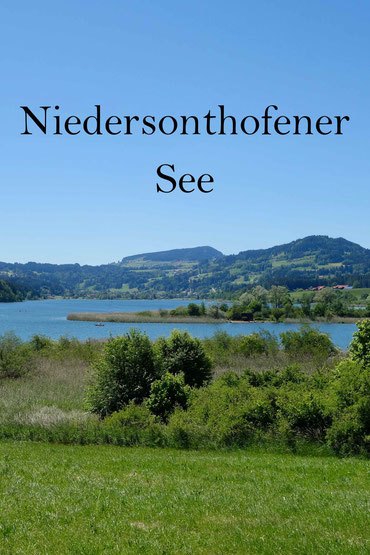 Rundweg um den Niedersonthofener See: Radeln oder Wandern im Oberallgäu in Bayern