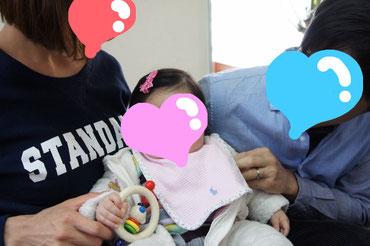 7月生まれのMちゃんは お座りできるようになりました☆