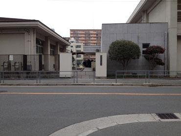 京橋、城東区蒲生の個別指導学習塾アチーブメント、蒲生中学で門前配布
