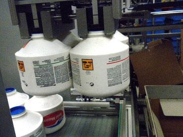 Verpakkingslijn voor potten.