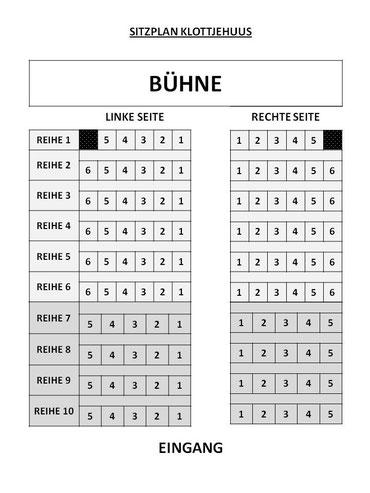 Sitzplan Klottjehuus
