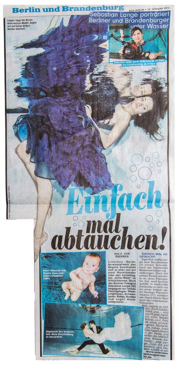 Bild: BILD Artikel über Unterwasserfotografie in Berlin