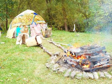 Schwitzhütte bei der Gauguschmühle