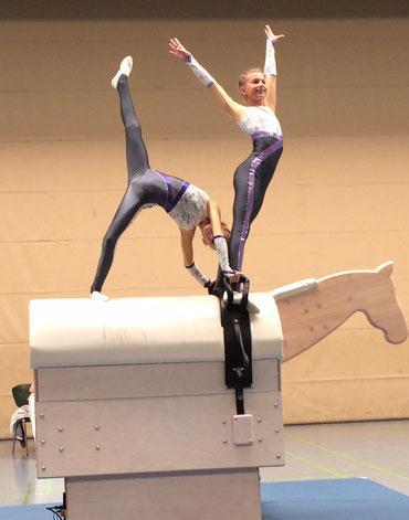Das Bild zeigt das Ingelheimer Doppelpaar beim ersten Movie-Turnier in Rheinland-Pfalz