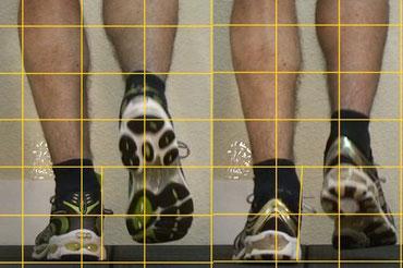ein Schuhvergleich während des Laufens, kann dazu dienen, dem Kunden Vor- und Nachteile der Schuhe sichtbar zu machen, kurzer Schuh-Check im Sportgeschäft