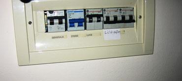 Neue Elektrik im ganzen Haus mit FI-Sicherungsschalter