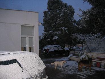 """Das """"casa mika"""" im Schnee"""