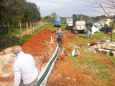 Bau der vollbiologischen Kläranlage im April 2017
