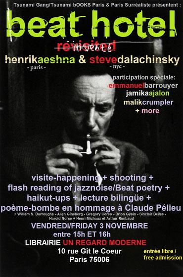 BEAT HOTEL avec HENRIK AESHNA + STEVE DALACHINSKY