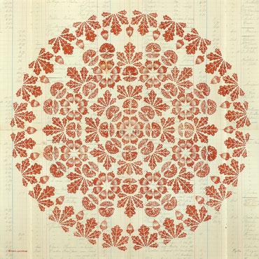 kitsc-paradise kp exposition encre de chine gravure chêne mandala