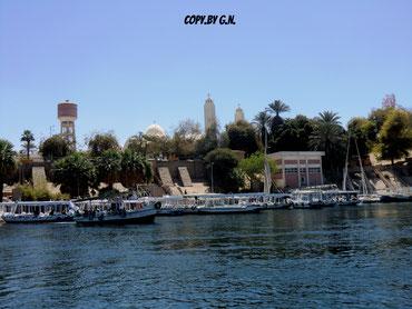 Assuan, auf dem Nil - wenig Touristen