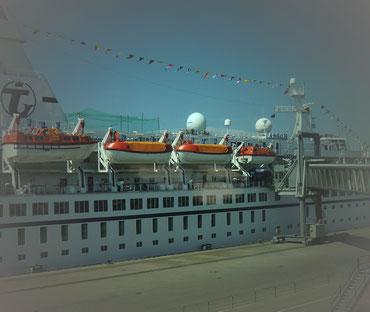 In Kiel an Bord auf die M.S.ASTOR
