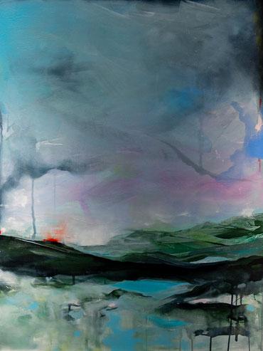 "Nr. 59 / CHRISTIN BREUIL-PALA / ""Pastelllandschaft"", Mixed Media auf Leinwand, 60x80cm, 560,-€"