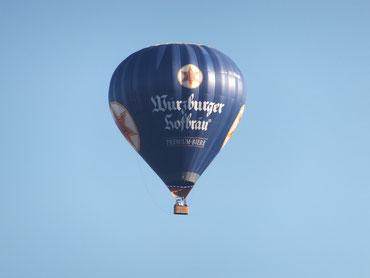 Diesen Ausblick auf den Ballon haben unsere Gäste im Garten genossen!