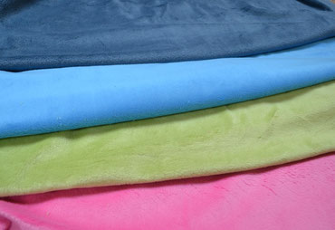 jeans blau, aqua, lime, pink