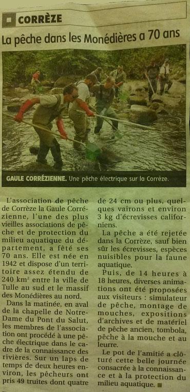 Journal La Montagne - Edition du 19/09/2012