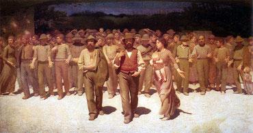 Il quarto stato, 1895, Guiseppe Pellizza da Volpedo.