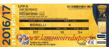 Ticket  PSG-Lille  2016-17