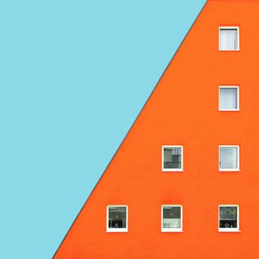 WSG Wohngebäude Linz Dornach Bkk-2 Architekten colorful modern architecture minimal facade design