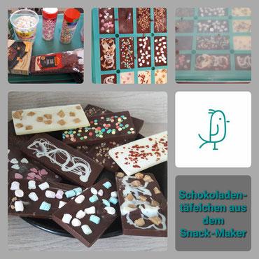 Schokoladentäflechen aus dem Snack-Maker von Pampered Chef®